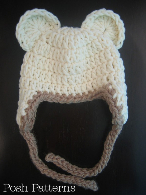 crochet pattern baby bear hat