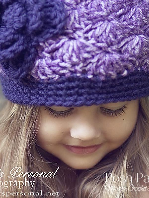 crochet pattern flapper hat with flower