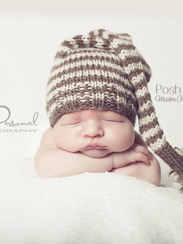 knit long tail elf pixie hat