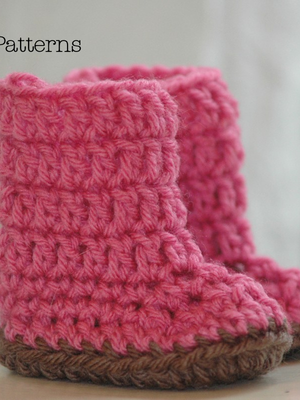 easy crochet pattern baby boots booties slippers