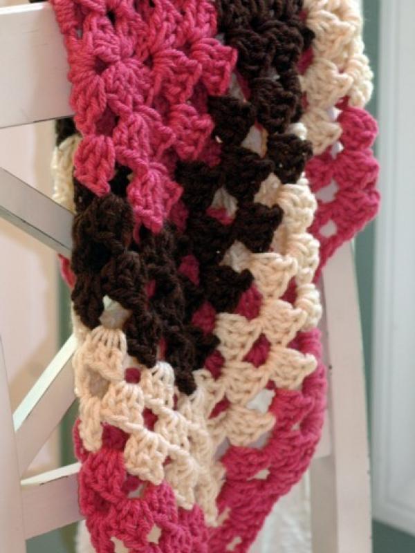 easy crochet pattern baby blanket throw