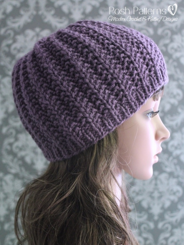 Knitting Pattern Ribbed Hat Easy Ribbed Beanie