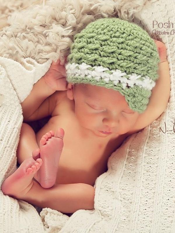 textured newsboy hat crochet pattern