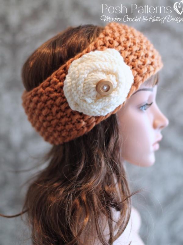 Knitting Pattern Headband Knit Ear Warmer Pattern
