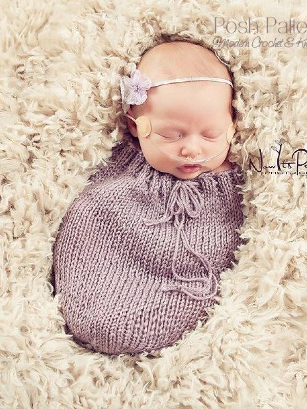 newborn swaddle sack cocoon knitting pattern