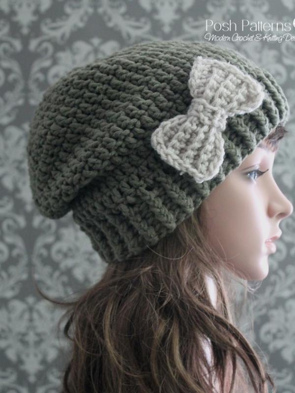 Slouchy Hat Crochet Pattern Crochet Slouchy Hat