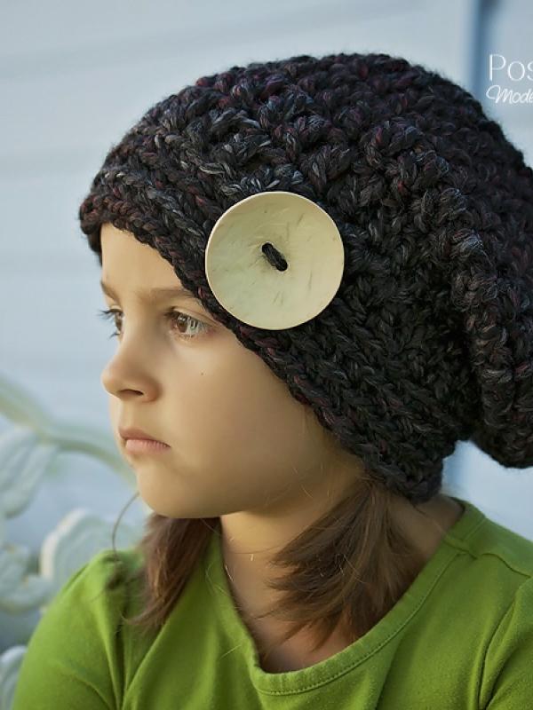 Slouchy Hat Crochet Pattern Beret Pattern