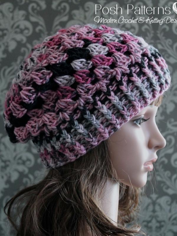 crochet slouchy hat pattern