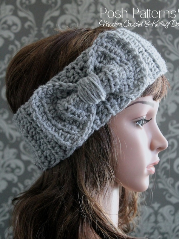 Bow Headband Crochet Pattern Easy Bow Ear Warmer