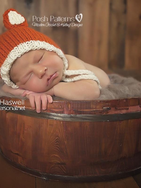 baby fox bonnet pattern