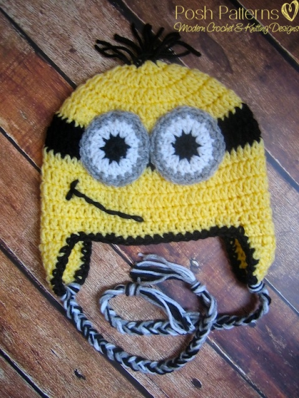 crochet pattern minion hat