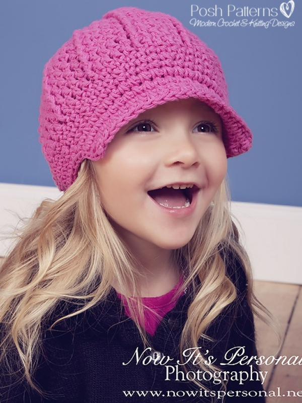 girls crochet newsboy hat pattern