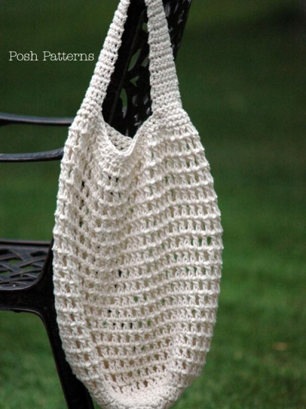 easy crochet pattern market shopping bag