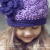 crochet pattern flapper hat with flower