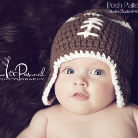 easy football hat crochet pattern