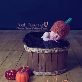 easy crochet pattern baby pumpkin hat