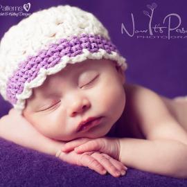 crochet hat pattern baby shell hat