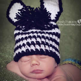 crochet zebra hat pattern