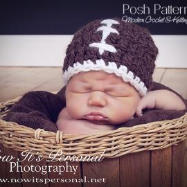 crochet pattern football hat