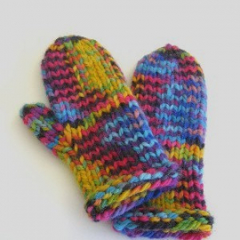 easy knitting pattern knit mittens