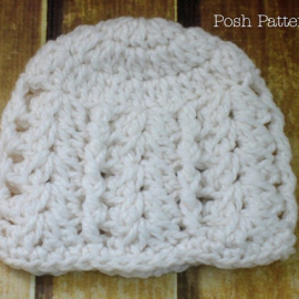 crochet hat pattern flapper beanie