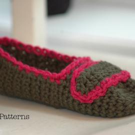 crochet slipper pattern easy houseslippers ladies teen adult