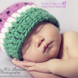 crochet watermelon hat pattern