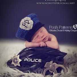 crochet pattern police hat