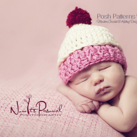 crochet pattern baby cupcake hat