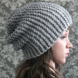 easy knit slouchy hat