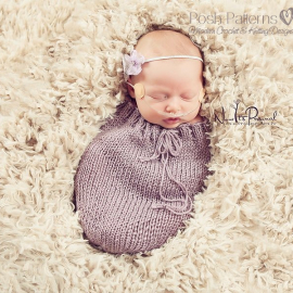 newborn swaddle sack cocoon knitting pattern