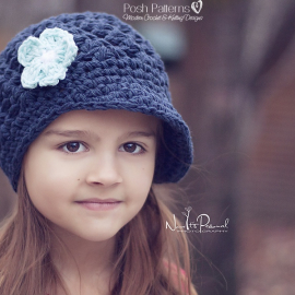 shell stitch newsboy hat crochet pattern