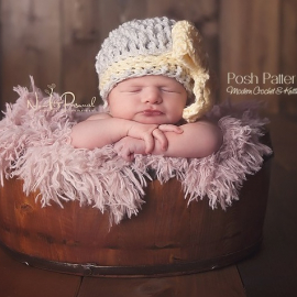 crochet hat and bow pattern