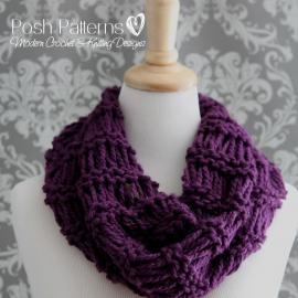 drop stitch cowl knitting pattern
