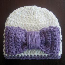 crochet beanie hat bow