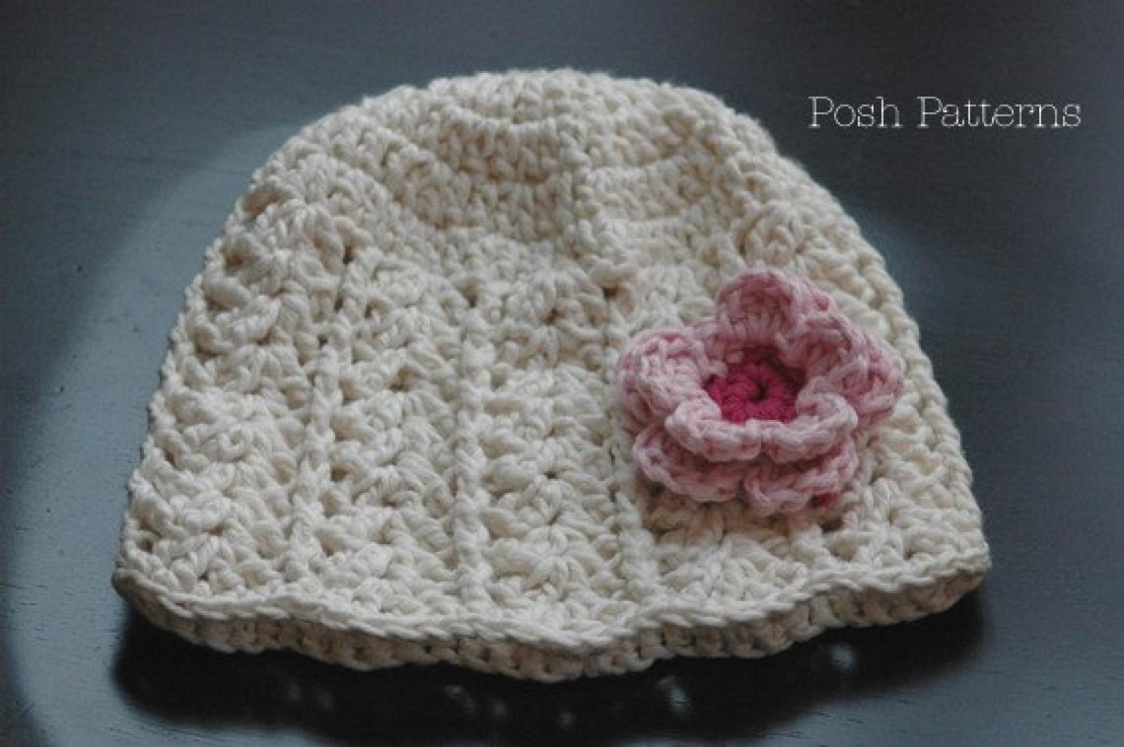 Girls Hat Crochet Pattern Crochet Flower Pattern