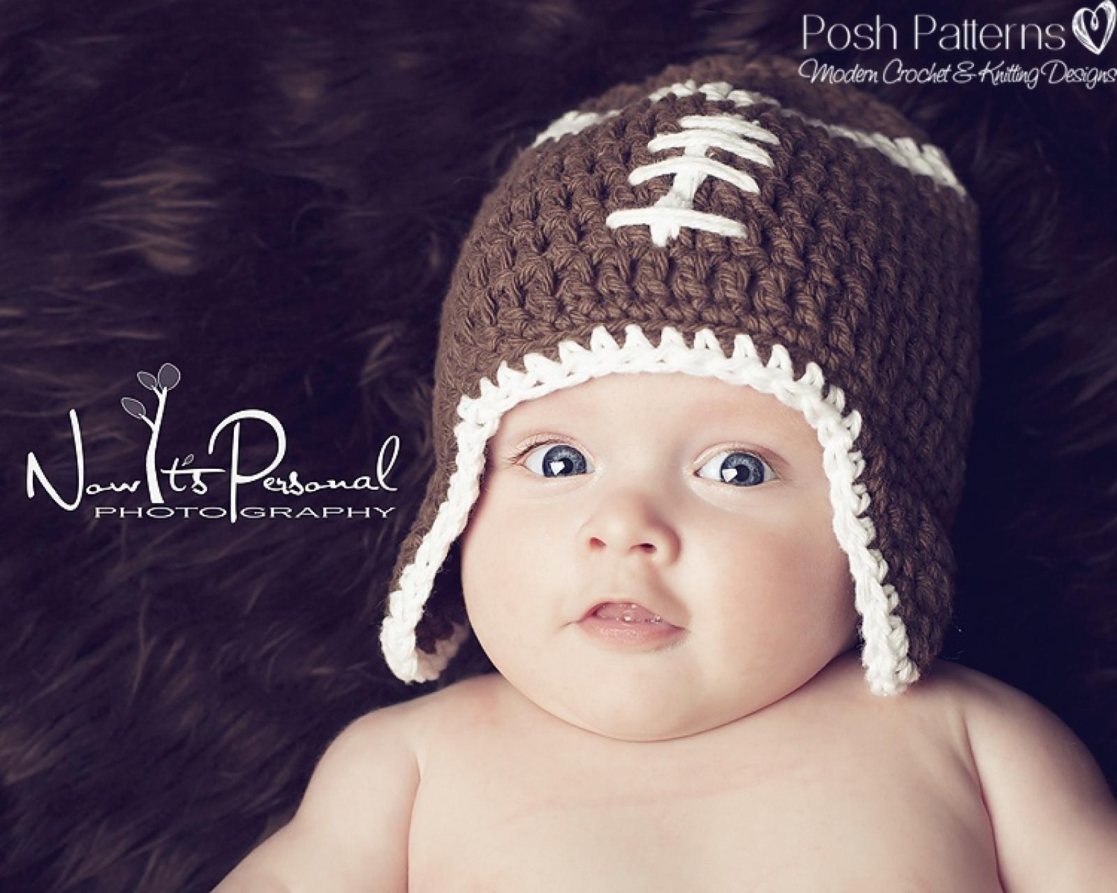 096efaee Crochet Pattern Football Earflap Hat