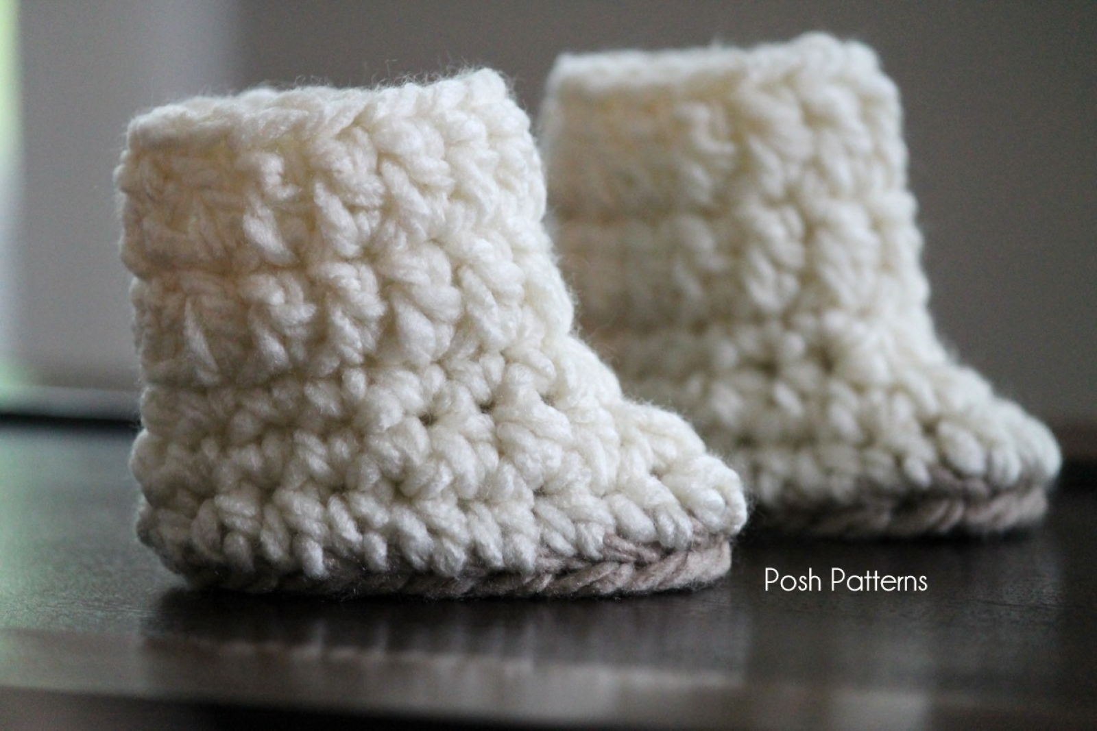 Easy Crochet Pattern Baby Boots Botties Sizes Newborn To 12 Months