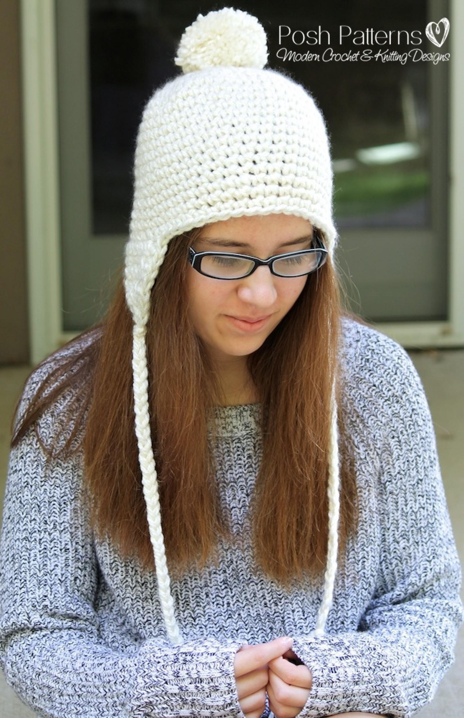 Crochet Earflap Hat Pattern Crochet Hat Pattern