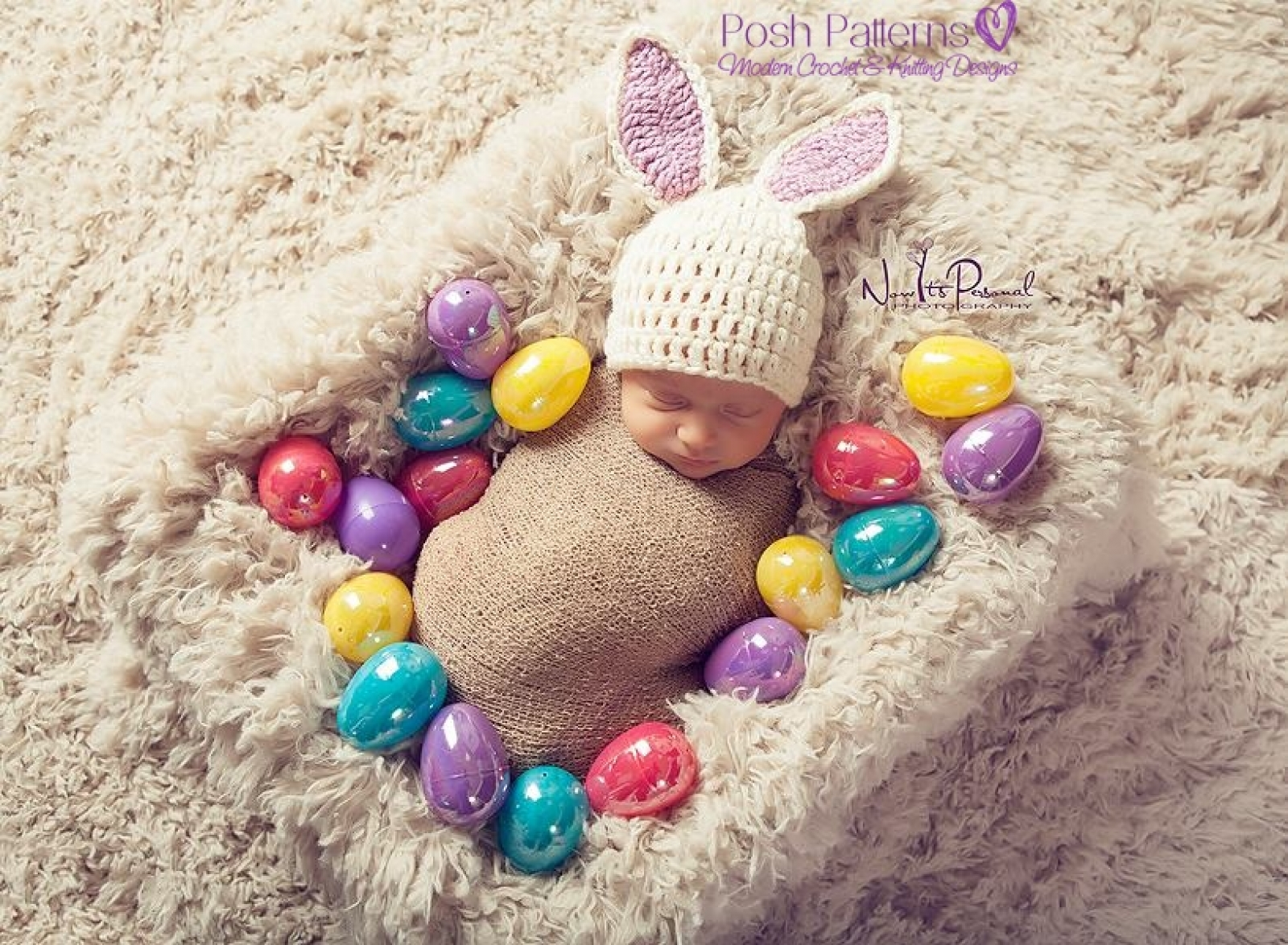 Crochet Easter Bunny Hat Pattern Sizes Newborn To 24 Months