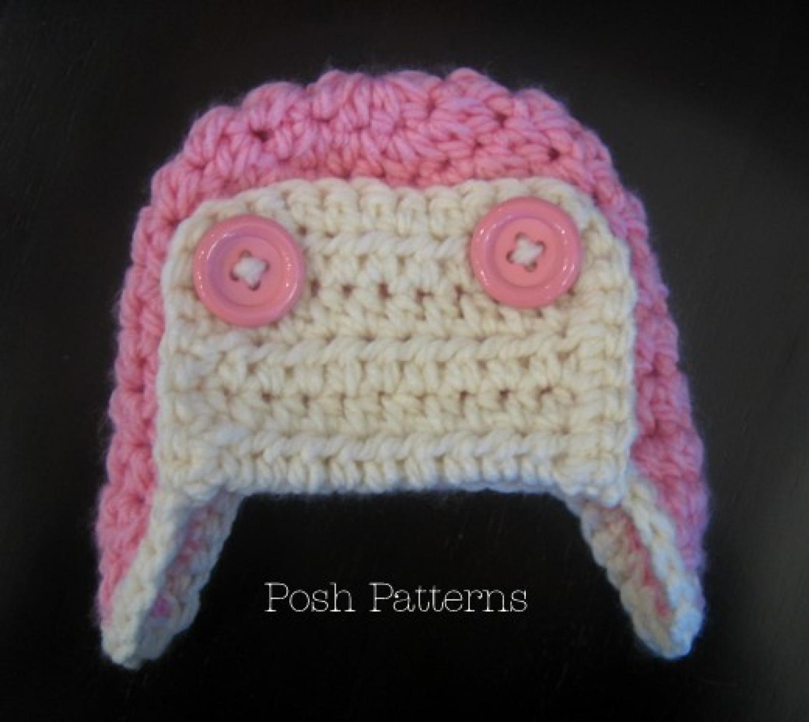 Crochet Aviator Hat Pattern Pilot Earflap Hat
