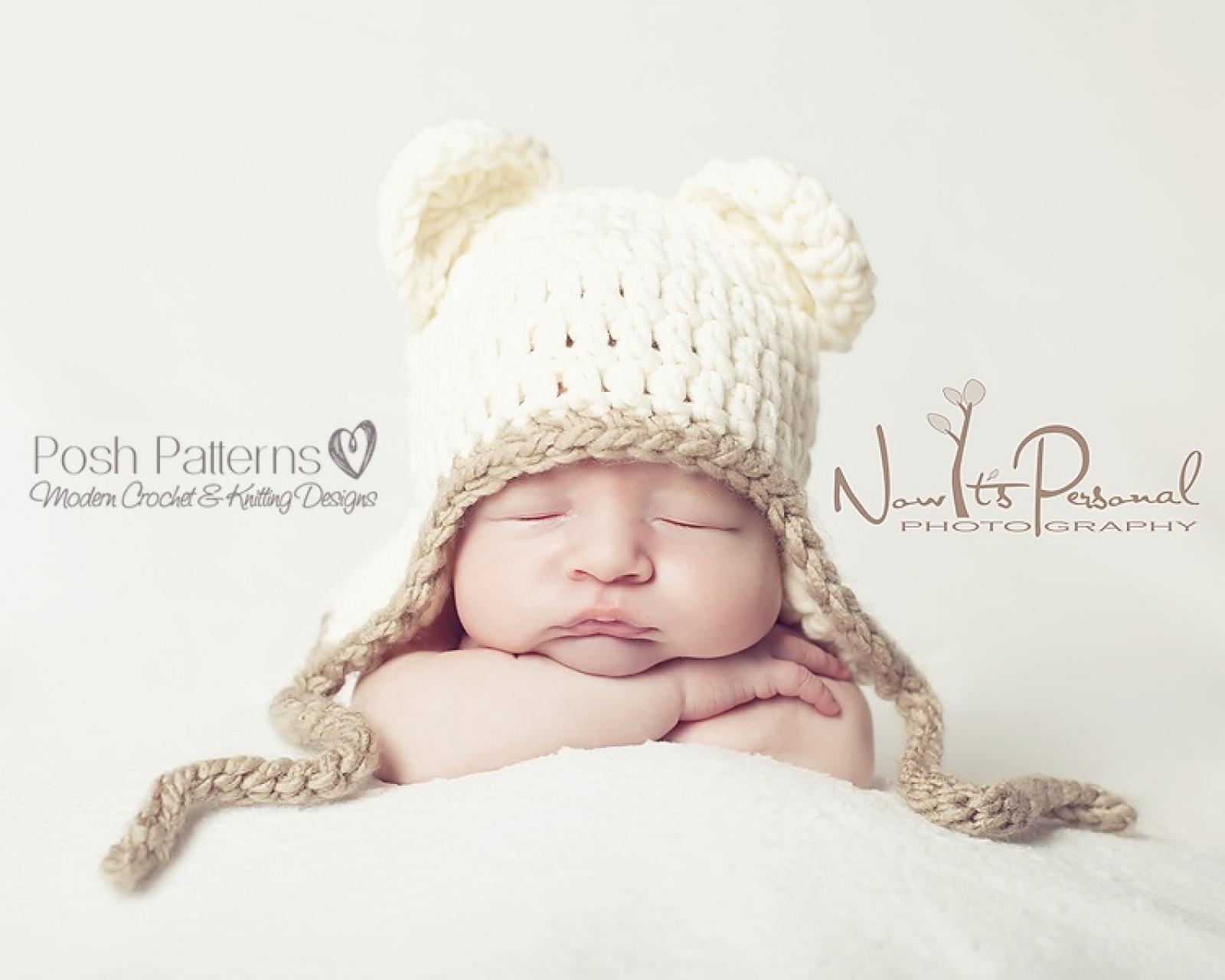 Teddy Bear Hat Crochet Pattern | Baby Bear Hat