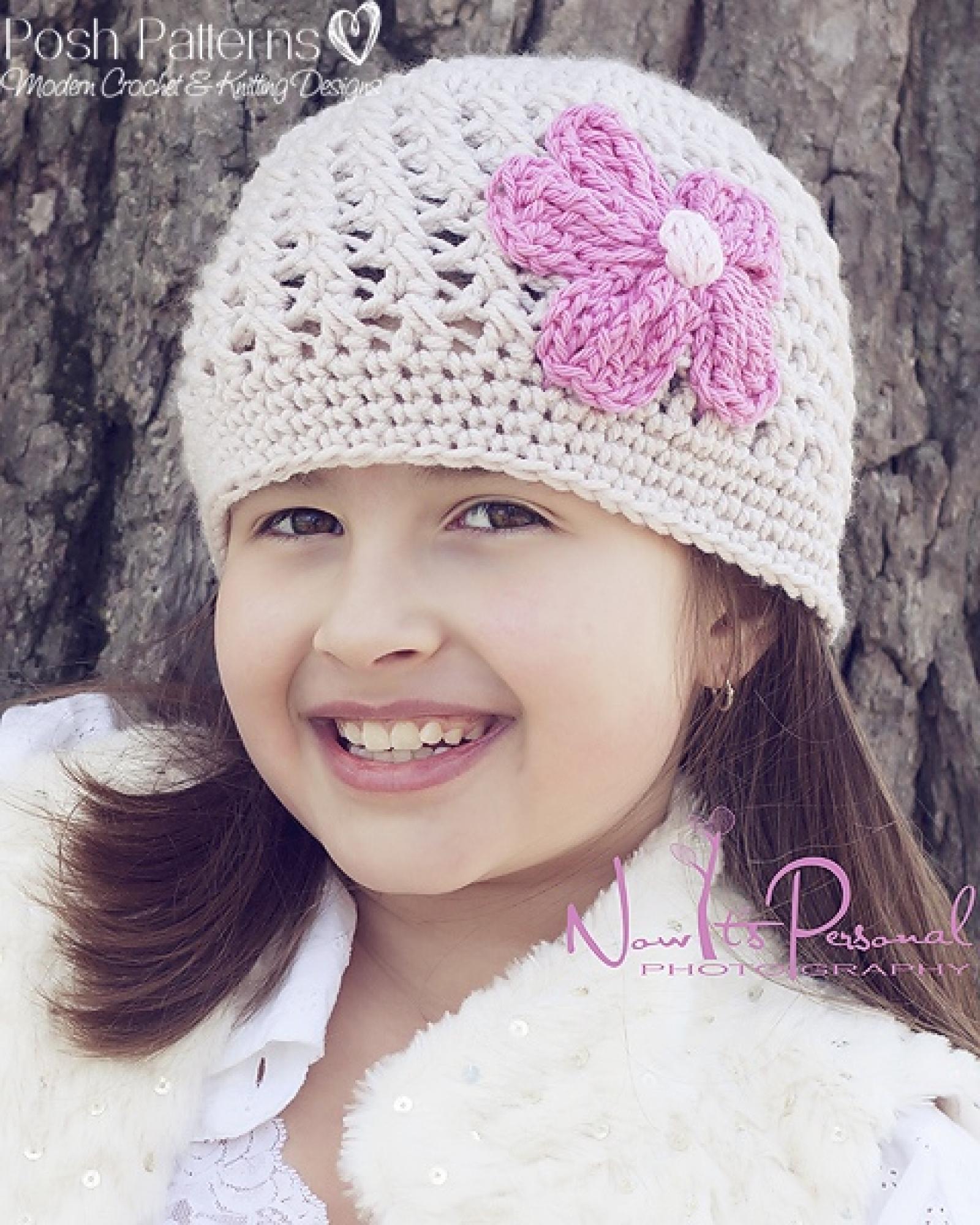 Crochet Hat Pattern Crochet Beanie And Flower