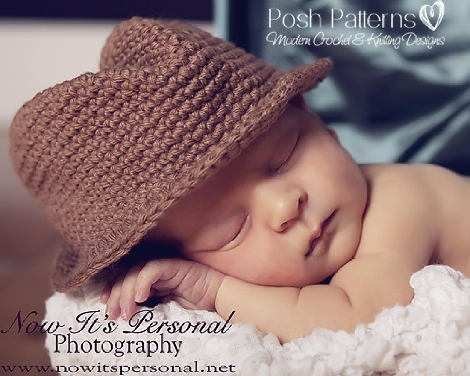 Fedora Hat Crochet Pattern | Crochet Cowboy Hat