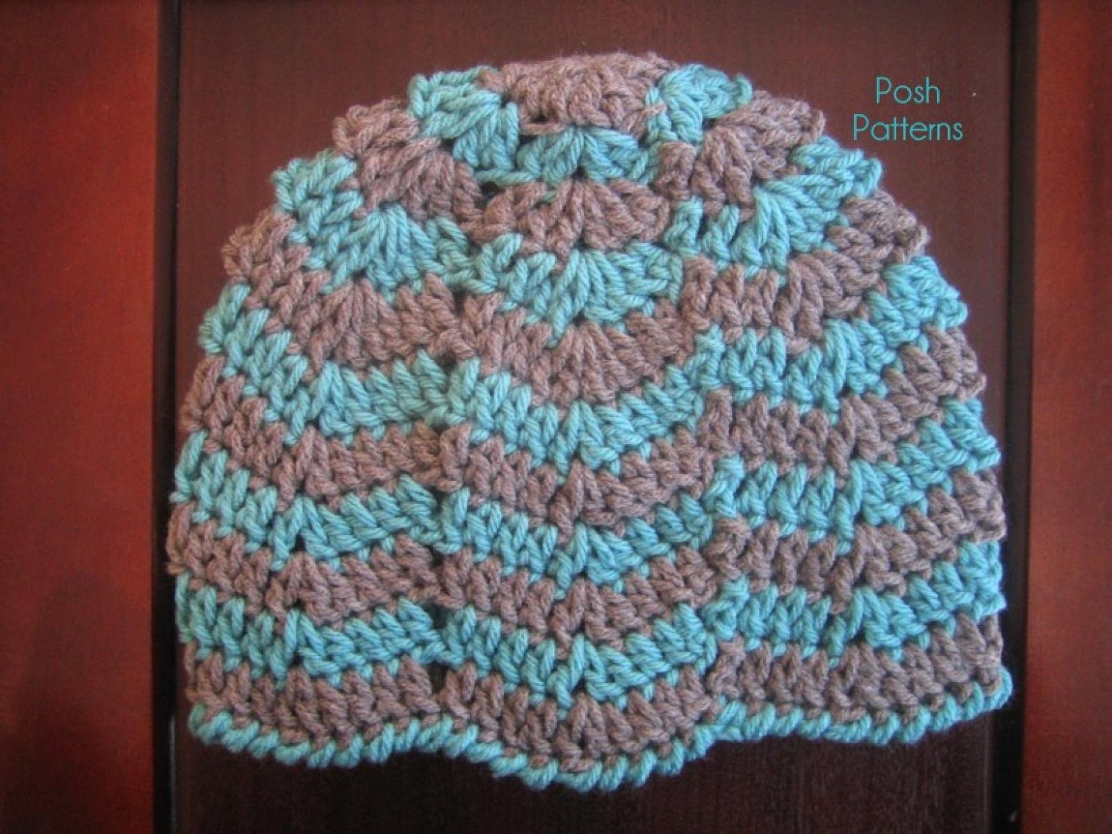 Ripple Hat Crochet Pattern Easy Beanie Pattern
