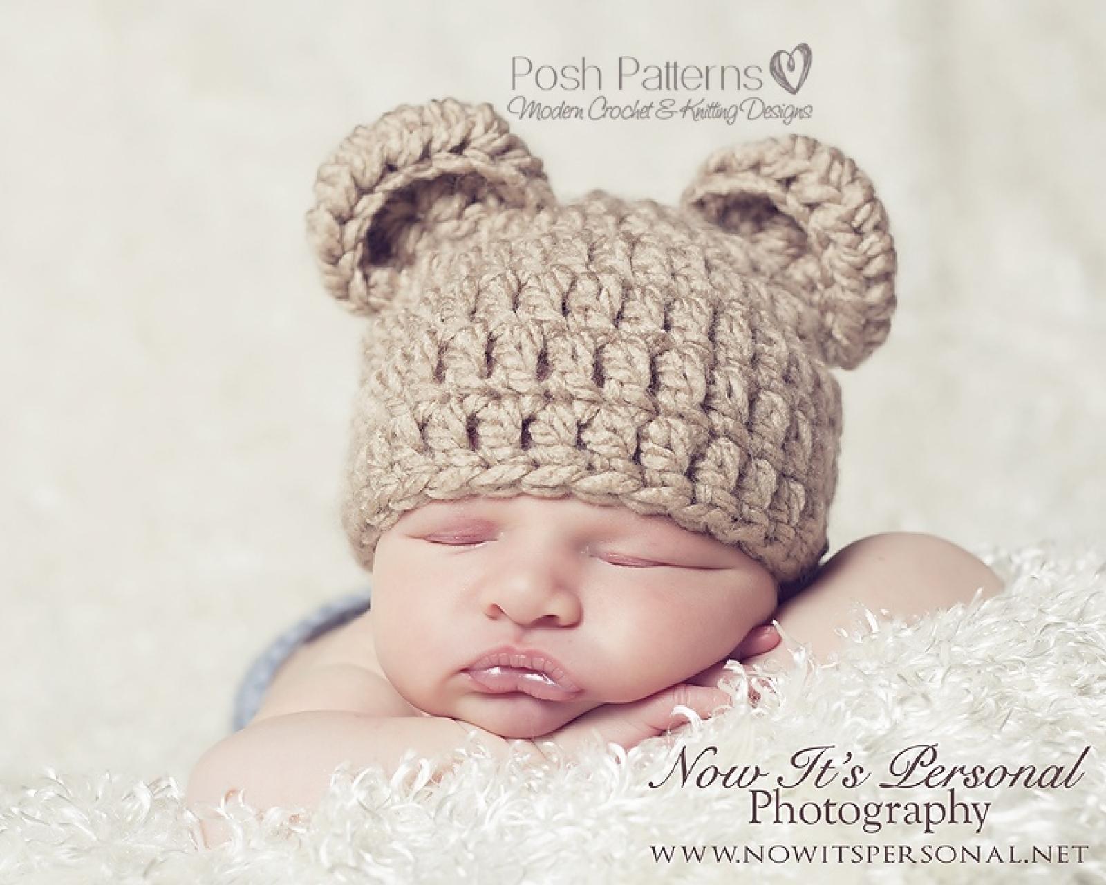 c6c19067179 crochet pattern easy bear hat
