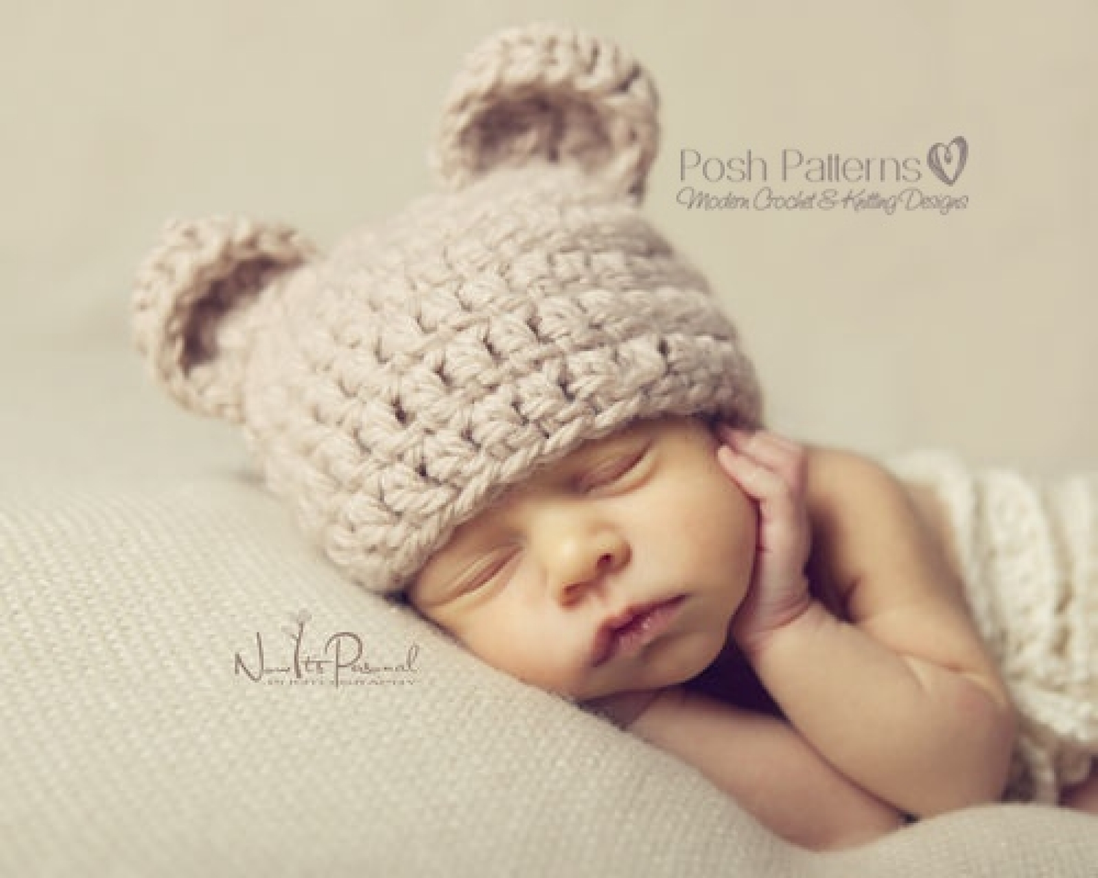 Free pattern for a simple and sweet little bear hat. … | Crochet ... | 1280x1600