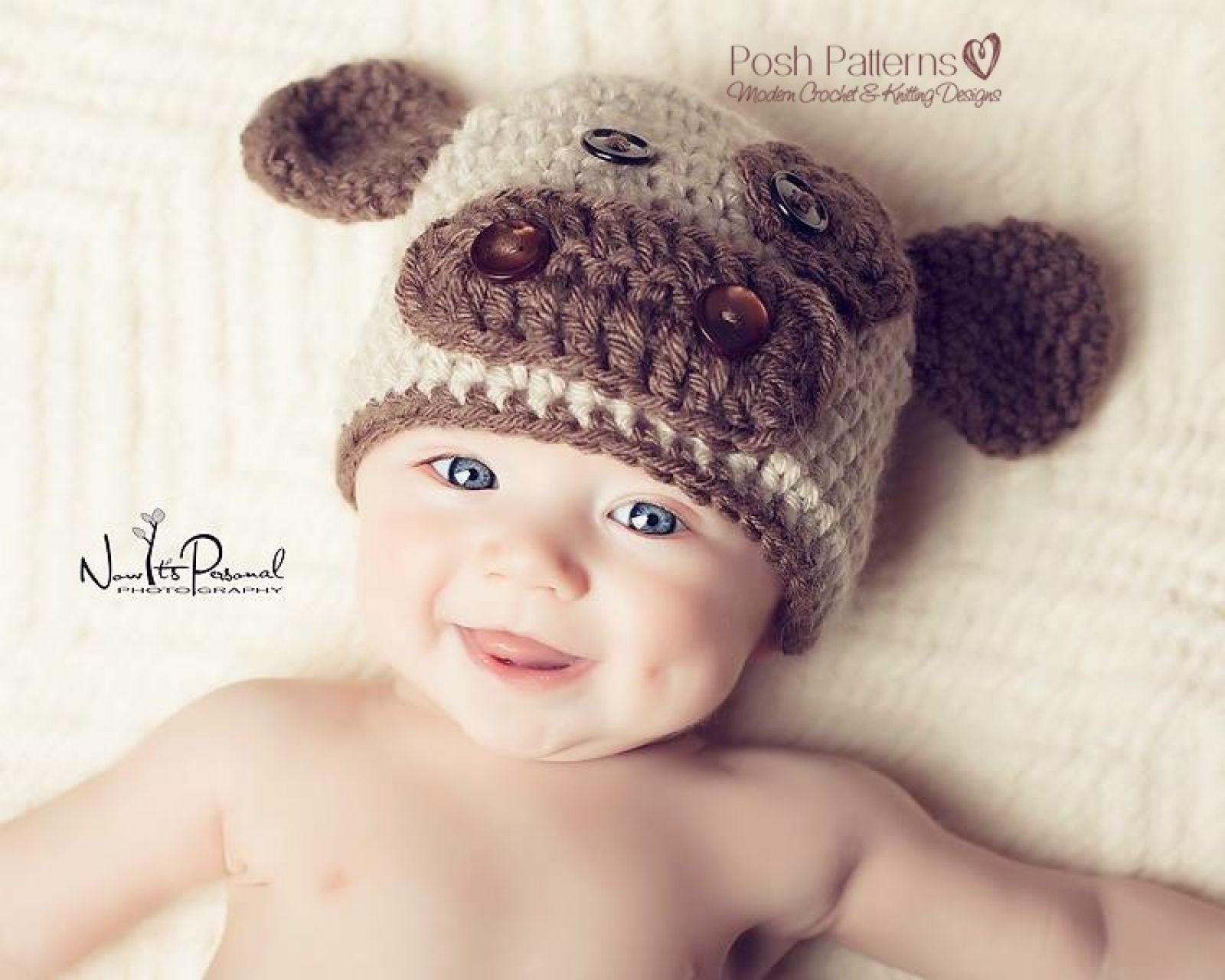 Baby Cow Hat Crochet Pattern Kids Cow Beanie