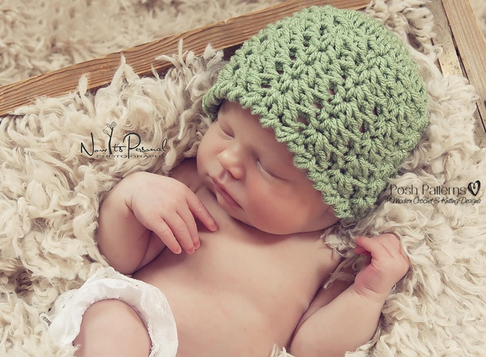 Crochet Hat Pattern Lacy Shells Flapper Beanie