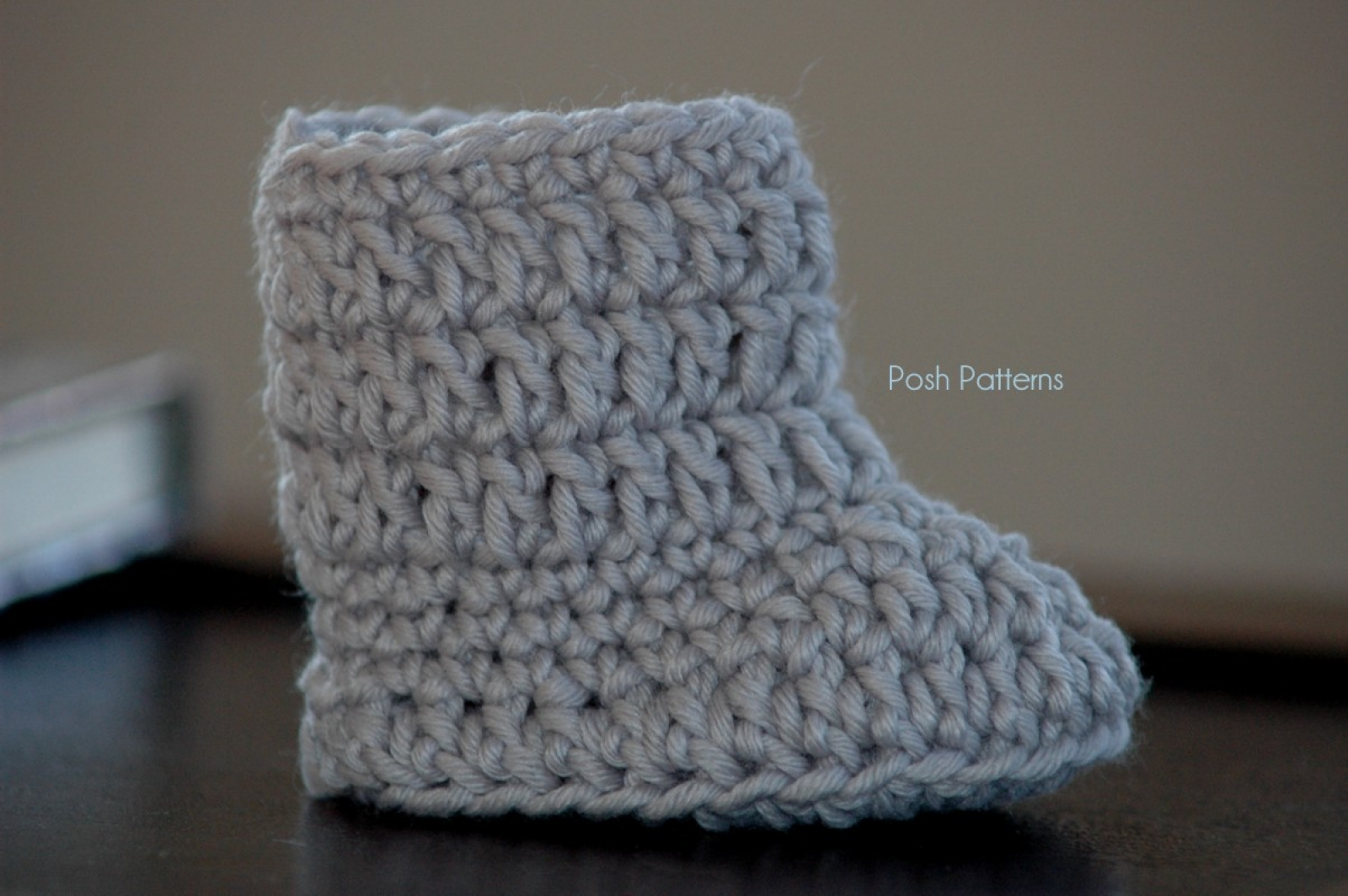 Crochet Pattern Easy Baby Boots Slippers | 2 Sizes